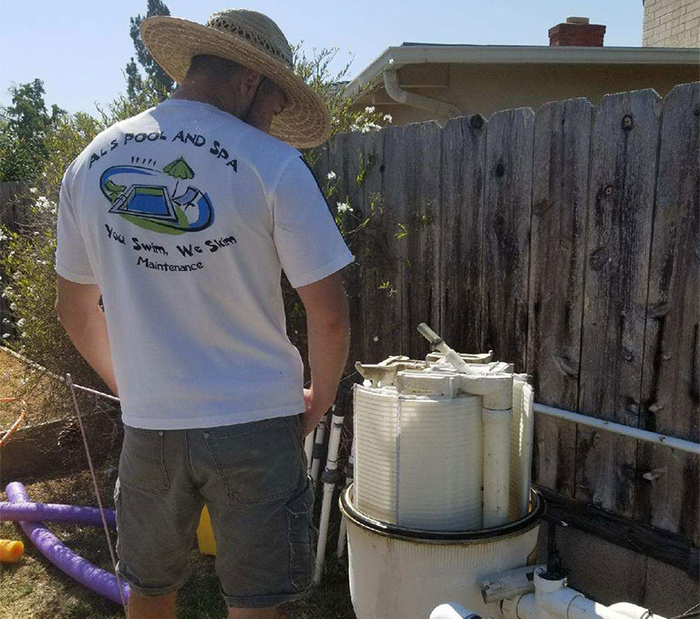 El Cajon Pool Filter Cleaning
